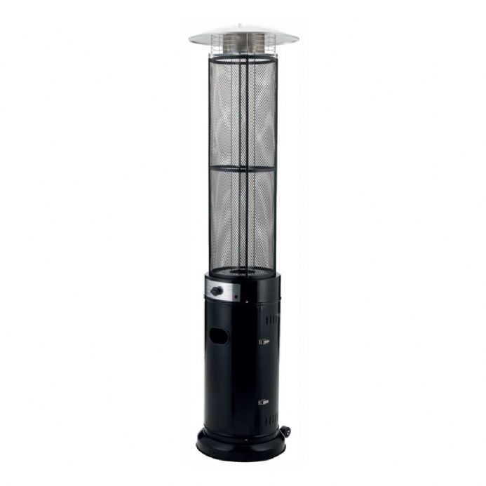 Glass Tube Stainless Steel Real Flame 15KW Gas Patio Heater Garden Outdoor