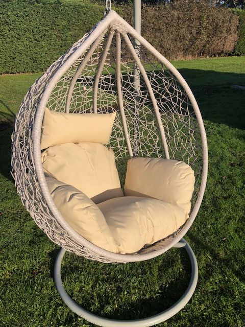 Extra Large Grey Patio Hanging Chair